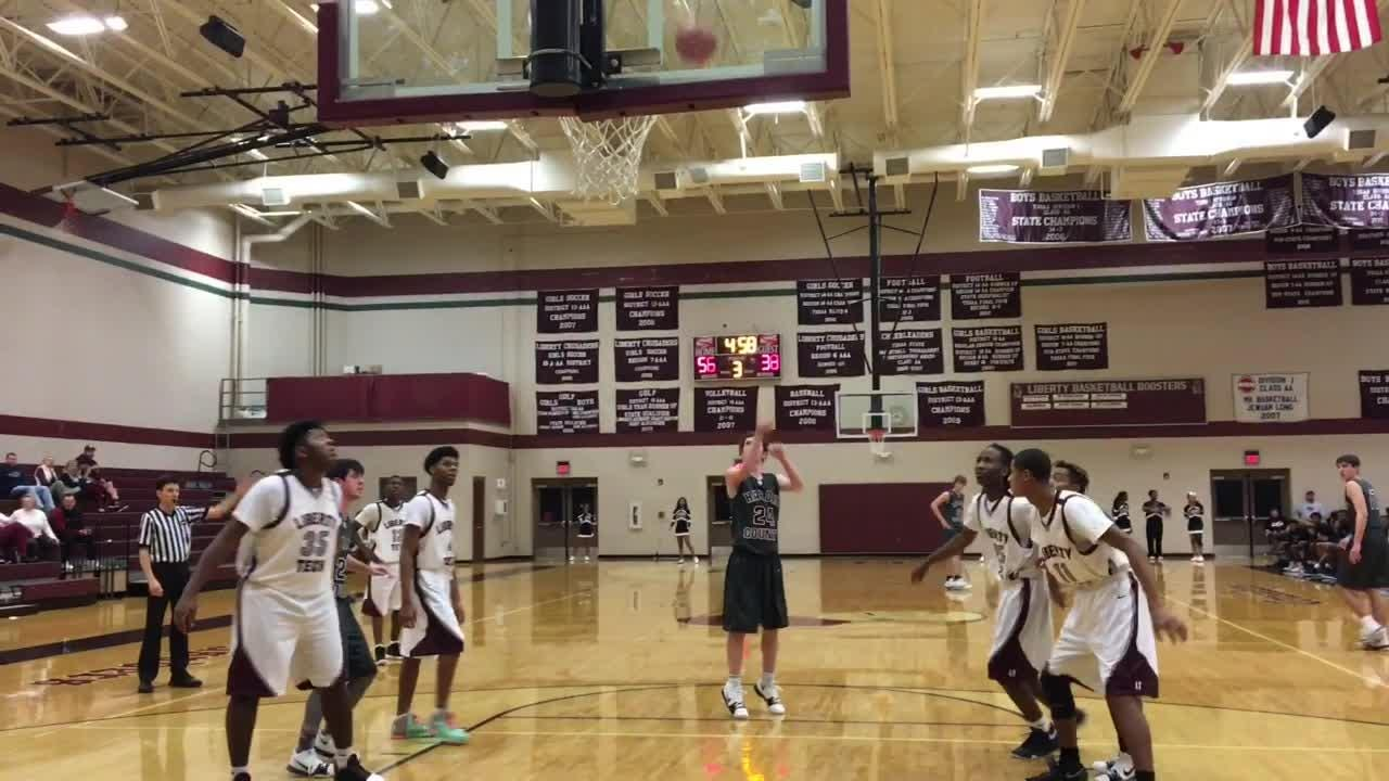 Highlights from Liberty Tech boys basketball's win over Hardin County on Jan. 9, 2018.