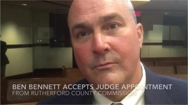 Ben Bennett talks about the Rutherford County Commission appointing him to serve as the next General Sessions Court judge.
