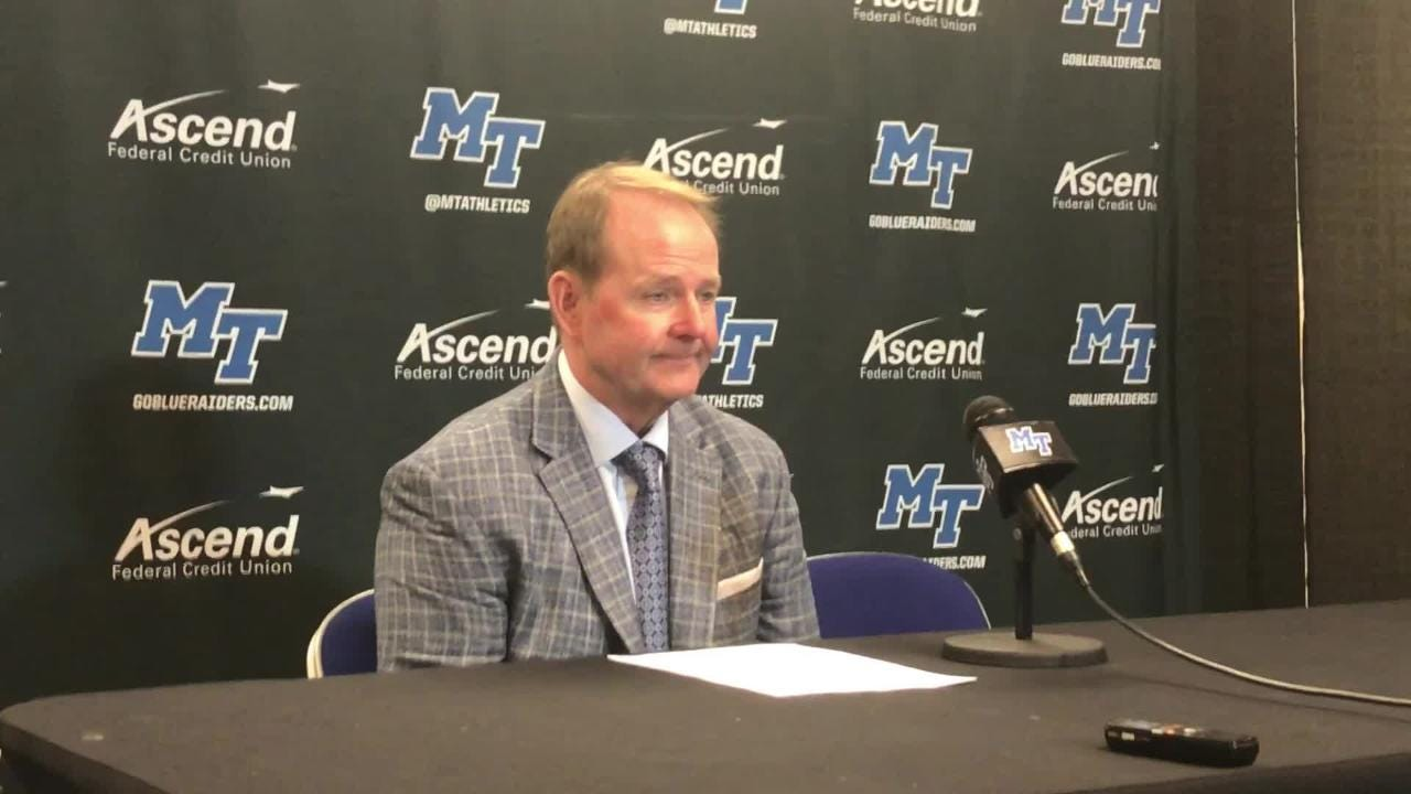 MTSU coach Kermit Davis on his team's 69-49 win against Southern Miss at Murphy Center on Saturday.