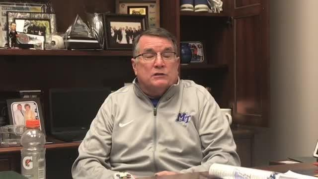 MTSU freshman guard Anna Jones scored 41 points between the team's two most recent games in Texas. Lady Raiders coach Rick Insell discusses Jones' scoring outburst.