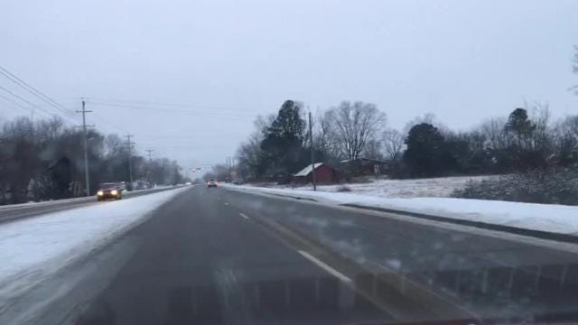 ROAD CONDITIONS IN MURFREESBORO ON JAN. 17, 2018