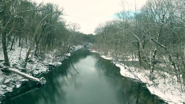 Watch: Aerial photos show beautiful snowfall over Rutherford County