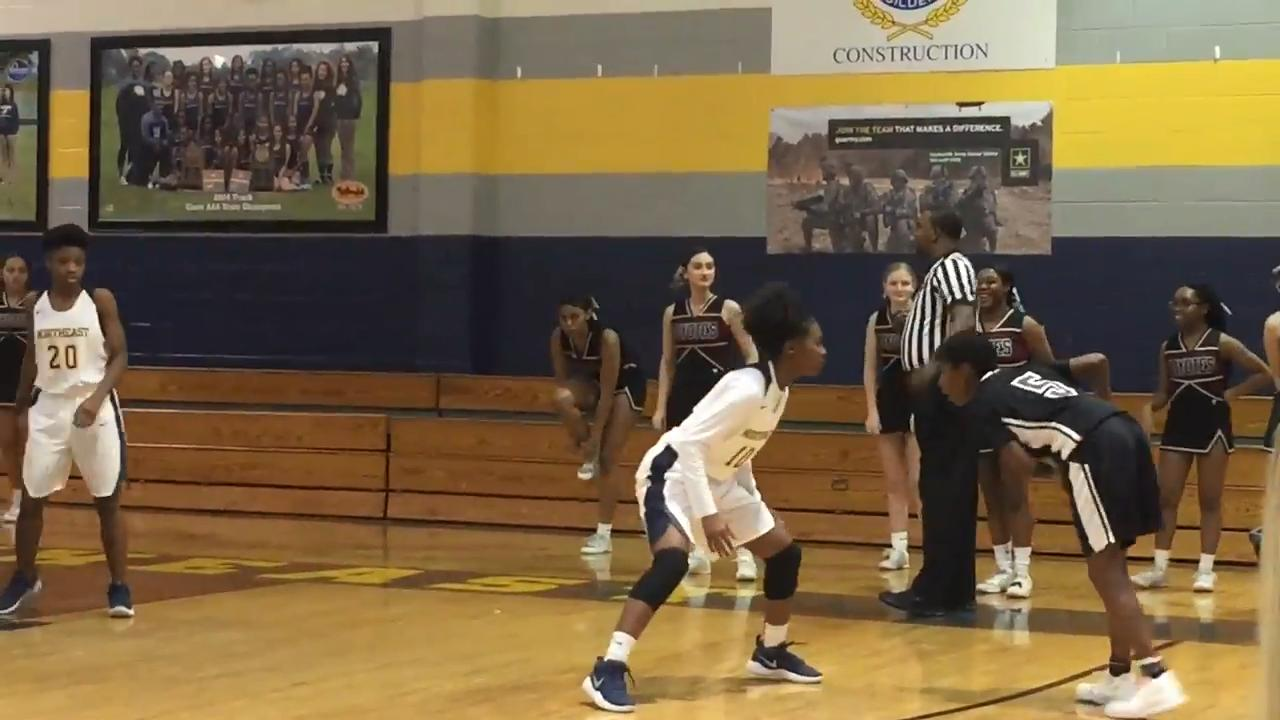 Girls basketball highlights: Northeast 40, West Creek 39