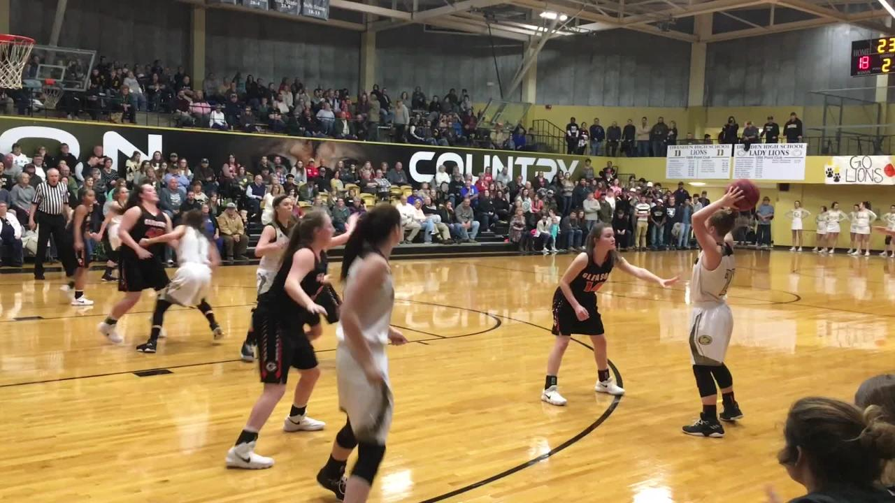 Dresden secured No. 2 in District 13-A with a 52-41 victory over Gleason on Jan. 2.