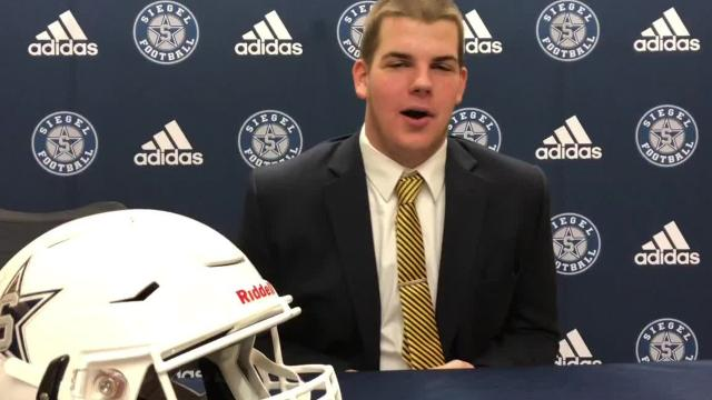 Siegel football standouts discuss national signing day