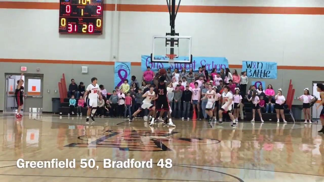 Highlights from Greenfield's 50-48 win over Bradford on Feb. 6, 2018.