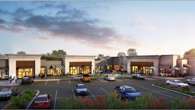 Crews are building a shopping center at the southeast corner of Fortress and John Rice boulevards that will include two national chain restaurants and a walk-in urgent care clinic.