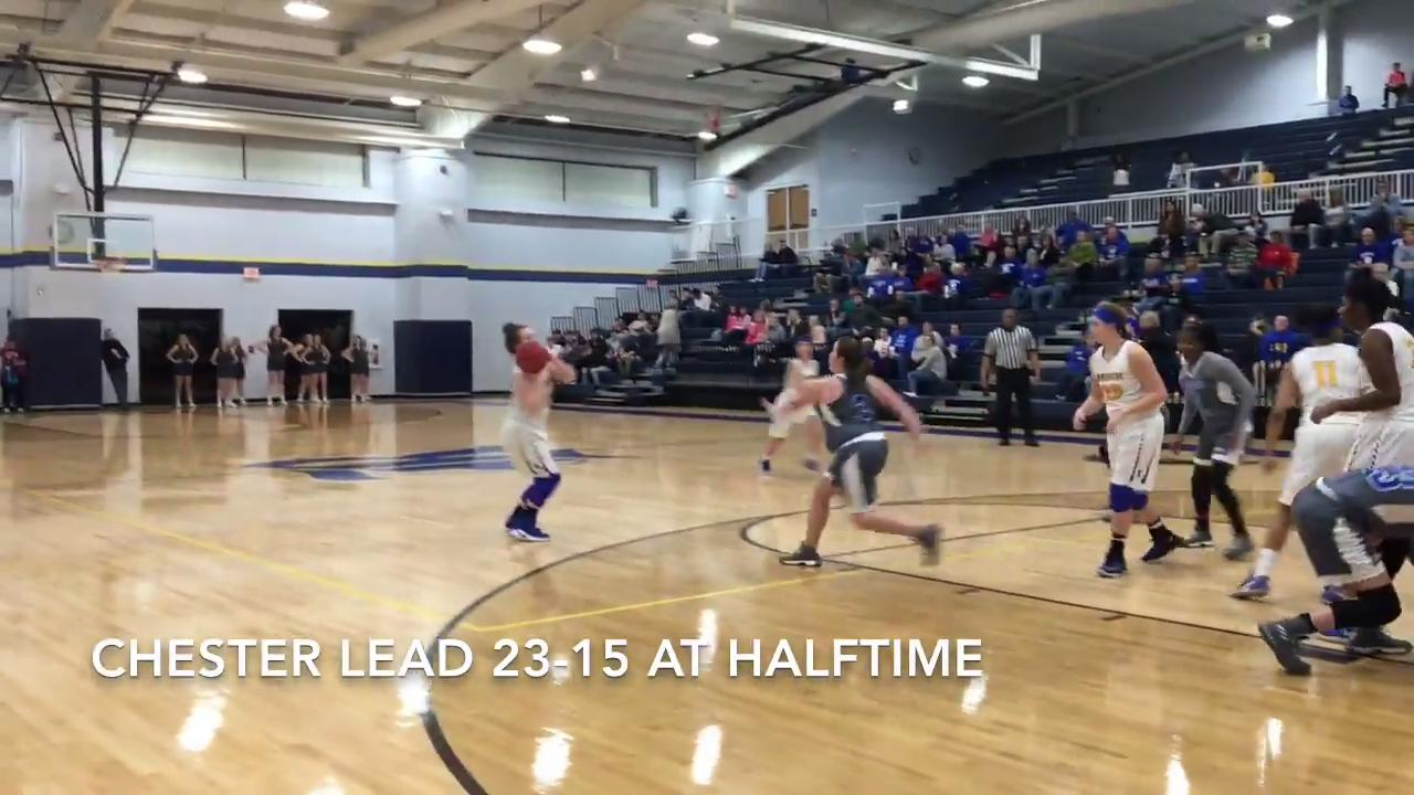 Highlights from Riverside girls basketball's 53-42 win over Chester County in the District 14-AA tournament on Feb. 13, 2018.