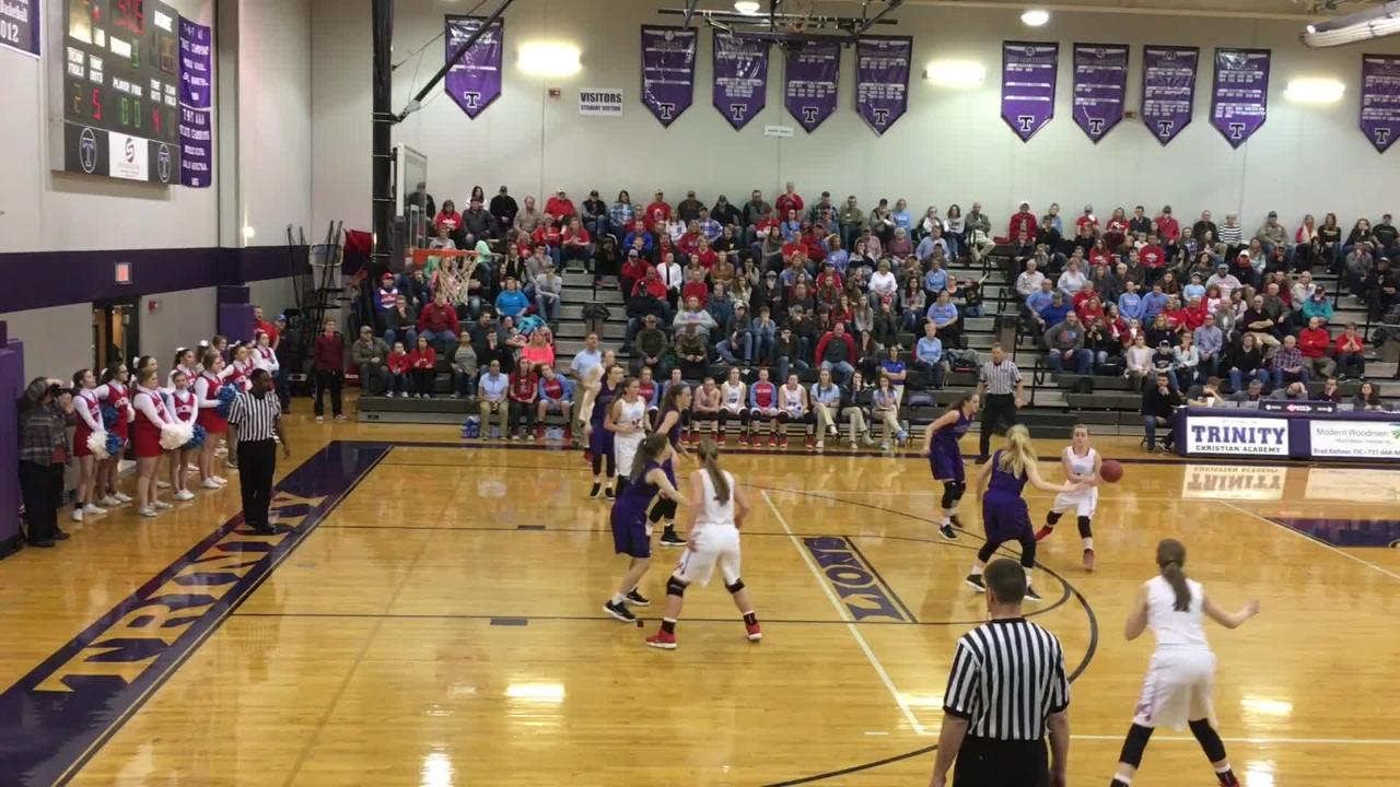 Gibson County girls advanced to the District 14-A championship game with a 53-47 victory over TCA on Friday.