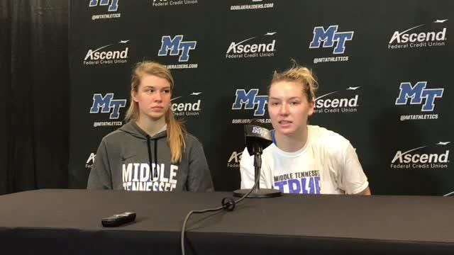 MTSU guard Abbey Sissom shares her thoughts after the Lady Raiders' 51-41 win over Rice.