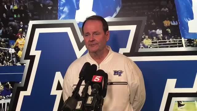 Middle Tennessee basketball coach Kermit Davis on his team entering the AP Top 25 poll for the first time in program history.