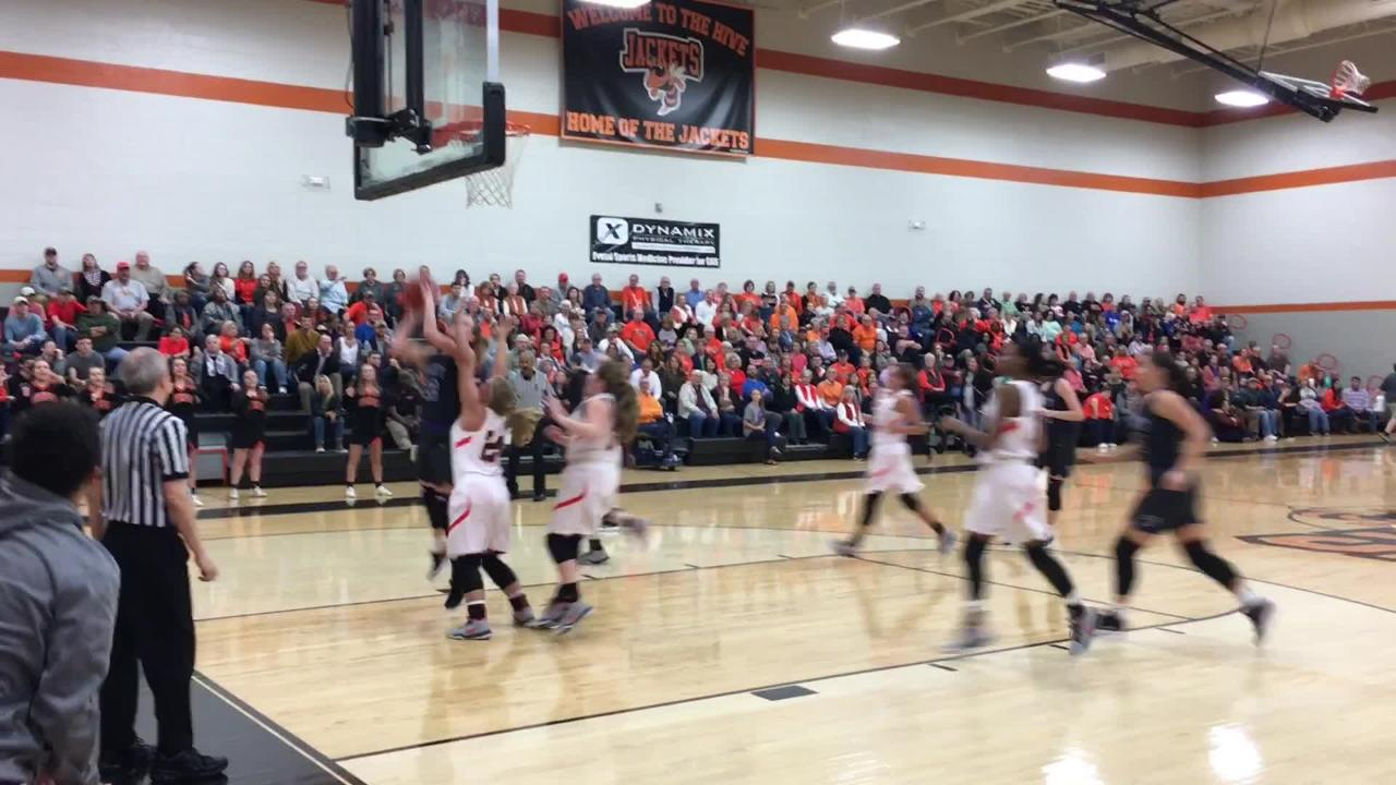 Greenfield girls advanced to the Region 7-A semifinals with a 75-49 victory over TCA on Feb. 22.