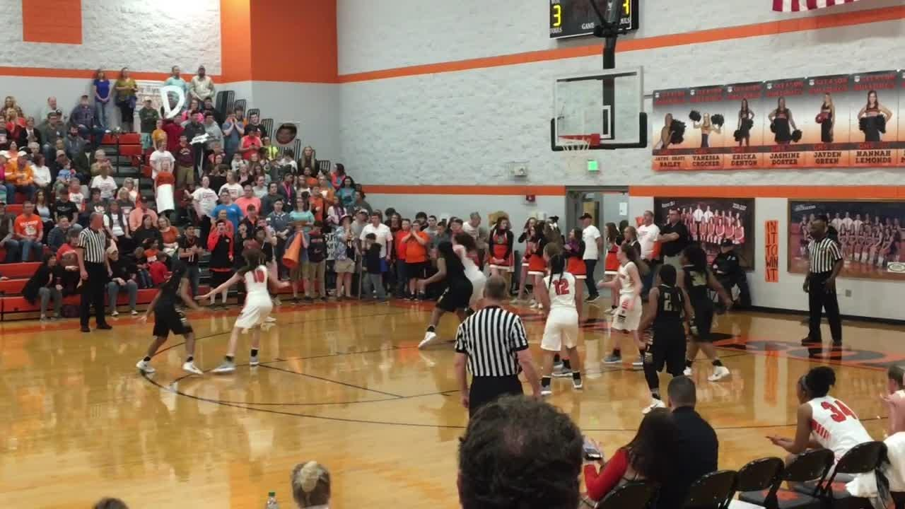 Highlights Gleason's 54-39 win over Peabody in the Region 7-A quarterfinal game on Feb. 22, 2018.