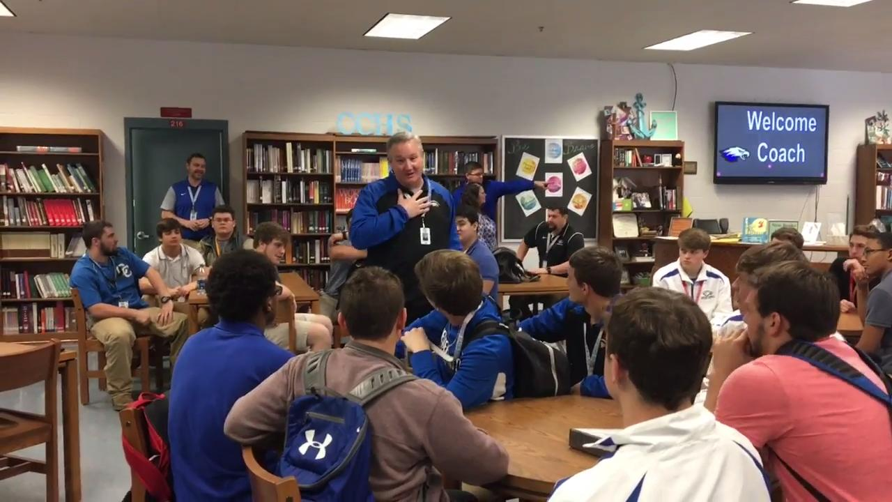 New Chester County head football coach Steve Robinson gives his thoughts on being promoted from defensive coordinator to the man leading the Eagles.