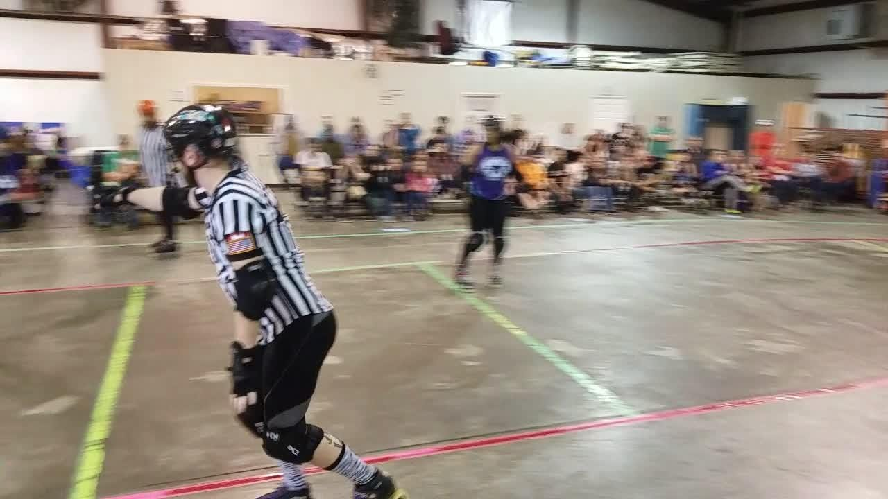 The Clarksville Roller Derby Team held its first bout of the season Saturday at Clarksville Speedway.