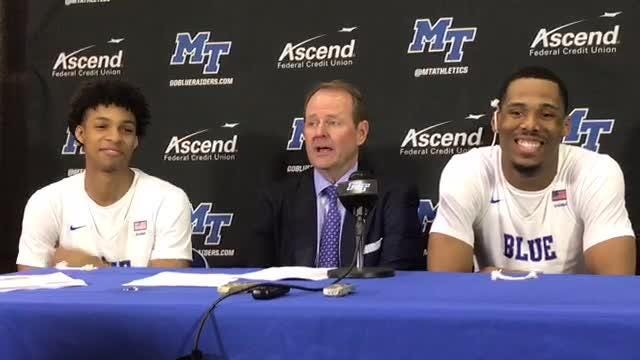 MTSU coach Kermit Davis shares his thoughts on his team's chances for an at-large bid following its win over Western Kentucky on Thursday.