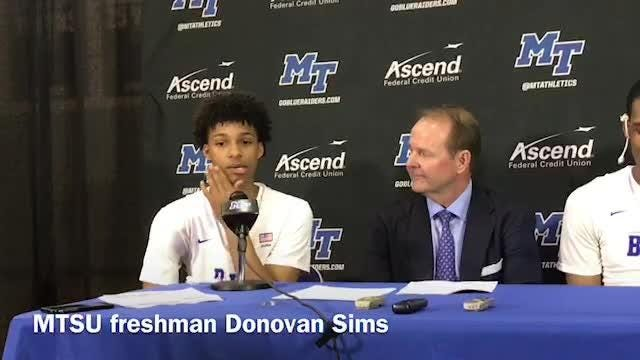 MTSU freshman and Blackman High alum Donovan Sims on playing in front of his hometown crowd at Murphy Center.