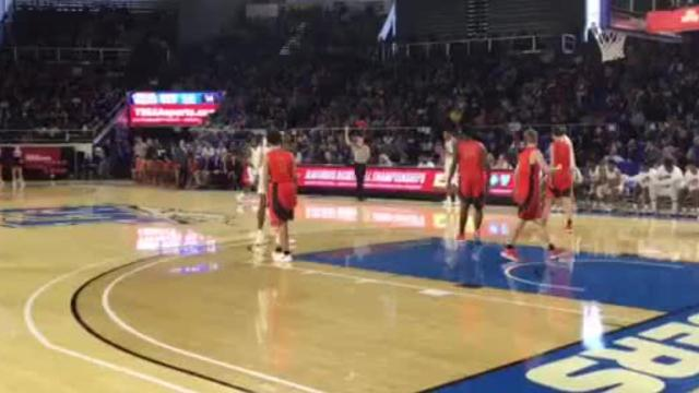 Memphis East's James Wiseman with the alley-oop dunk