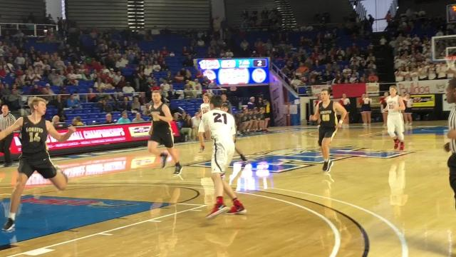 Highlights of Loretto's 70-69 win over Columbia Academy in the Class A state quarterfinals.