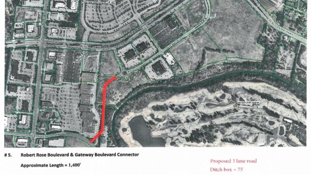 A planned Murfreesboro short-cut connection street between Medical Center and Old Fort parkways will travel from Robert Rose Drive behind The Oaks Shopping Center to Gateway Boulevard roundabout.