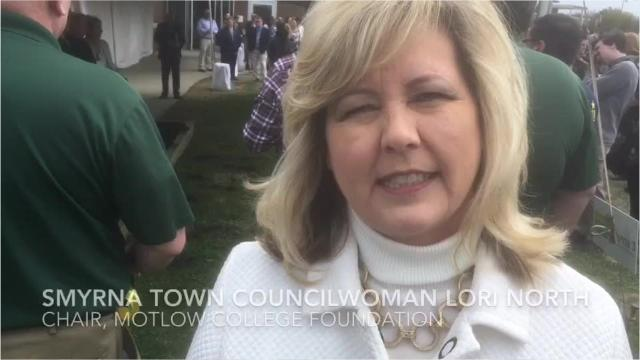 Motlow College Foundation Chairwoman Lori North, who's also a Smyrna Town Council member, talks about the community college celebration to break ground for a third building at a campus where her daughters attended before earning bachelor's degrees.