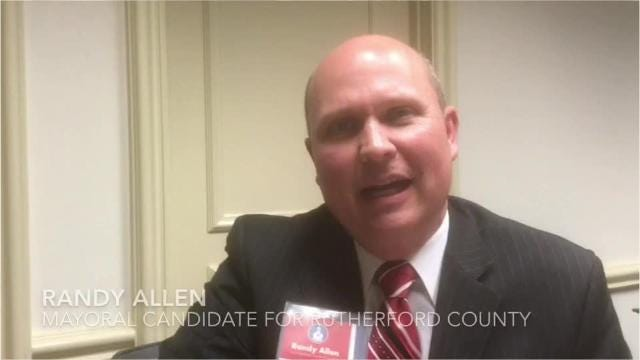 Randy Allen talks about his campaign to be the next Rutherford County mayor.