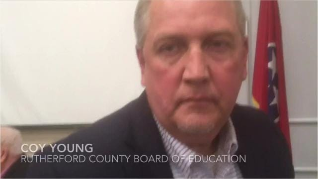 Rutherford County Board of Education member Coy Young talks about why he called for Oakland High School Principal Bill Spurlock to be offered the job to succeed retiring district Director Don Odom.
