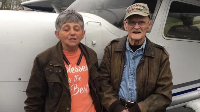 Jackie Allen surprised her husband, Jack Allen, with a flight over Murfreesboro