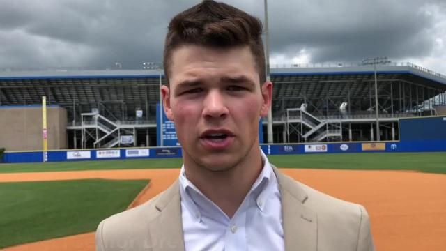 Siegel's Drew Benefield and Central Magnet's C.J. Campbell discuss being finalists for the Tennessee Baseball Coaches Association Mr. Baseball award.