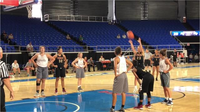 Highlights of Riverdale's win over Morristown West at MTSU basketball camp Thursday.