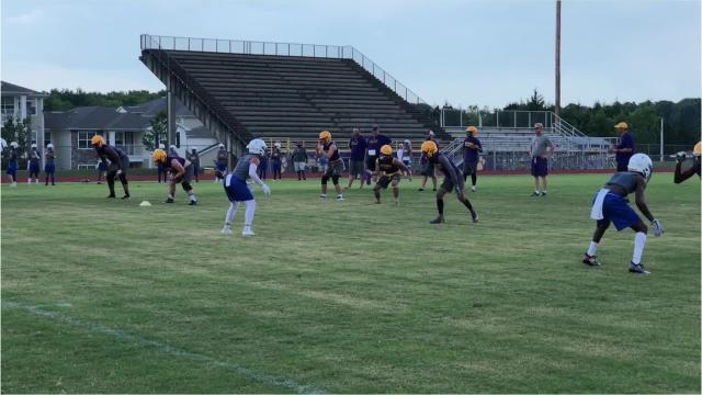 Smyrna hosted Gallatin, Franklin and Shelbyville in 7-on-7 workouts Tuesday.