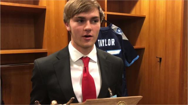 Oakland senior Garrett Taylor discusses winning the Tennessee Titans Mr. Football Kicker of the Year award.