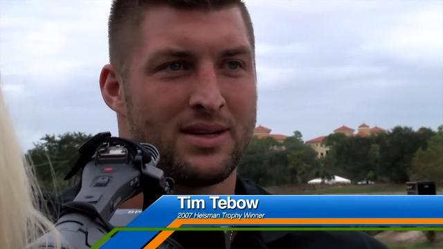Tim Tebow at the Tiburon Golf Club for the Franklin Templeton Shootout