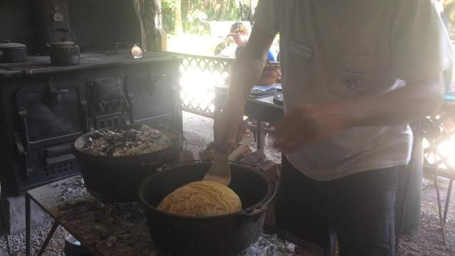 Portuguese cornbread baked at Koreshan State Historic Site
