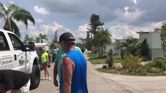 Lisa and David Nagel drove 1,800 miles from Minnesota to Naples to share donated food, water, fuel and other supplies to residents of mobile home communities ravaged by Hurricane Irma.