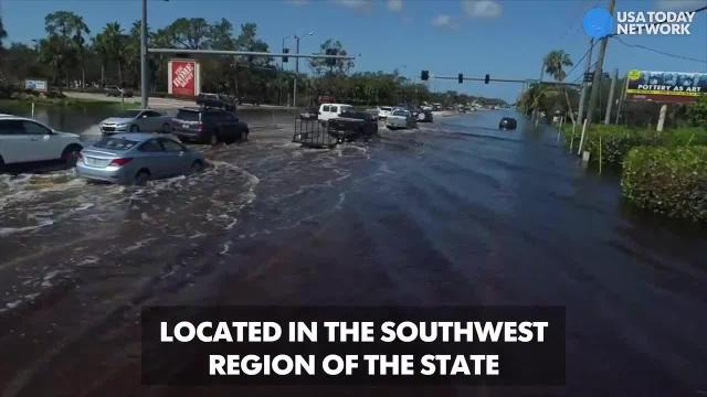 Hurricane Irma drone video: Flooded street in Bonita Springs