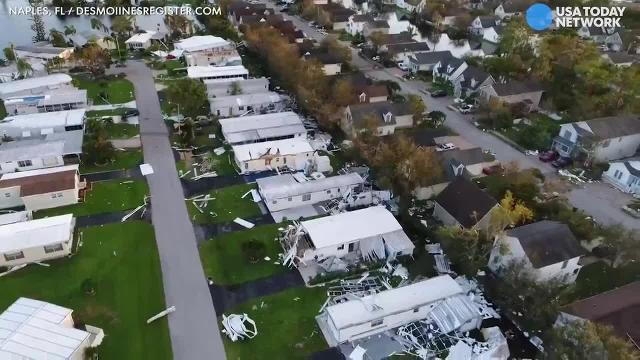 Hurricane Irma drone video: Irma wrecks Southwest Florida neighborhoods