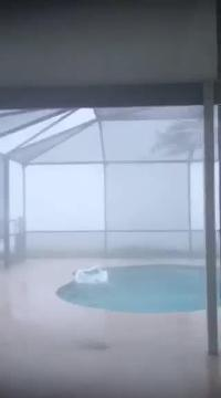 Hurricane Irma video: View from inside a Collier County home