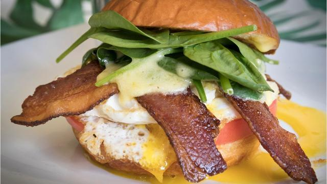 The new breakfast and brunch restaurant is in Meridian Marketplace.