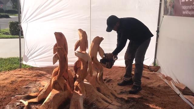 Video: Naples Mahogany Chainsaw Art