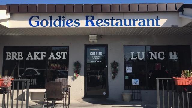 Enjoy country fried steak at Goldies Restaurant in Naples, Florida.