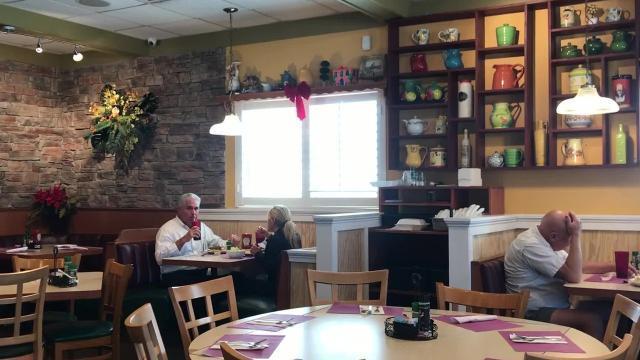 Enjoy buttermilk pancakes at Blueberry's Restaurant in Naples, Florida.