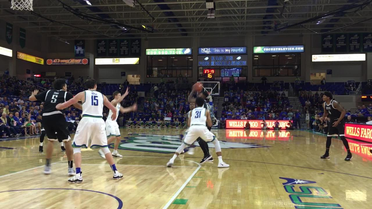 For the second straight game, The Eagles played tough defense at home against USC Upstate on Thursday night. (Video by Dana Caldwell/Naples Daily News)