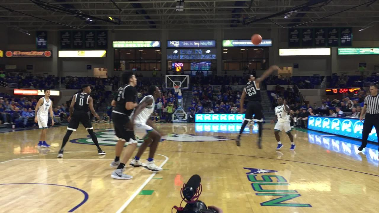 The Eagles have played so well in their 2-0 ASUN start that the backups have gotten lots of minutes. Here freshman forward Brian Thomas helps polish off USC Upstate in Alico Atena on Thursday night. (Video by Dana Caldwell/Naples Daily News)