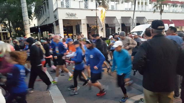 The 29th Naples Daily News Half Marathon begins