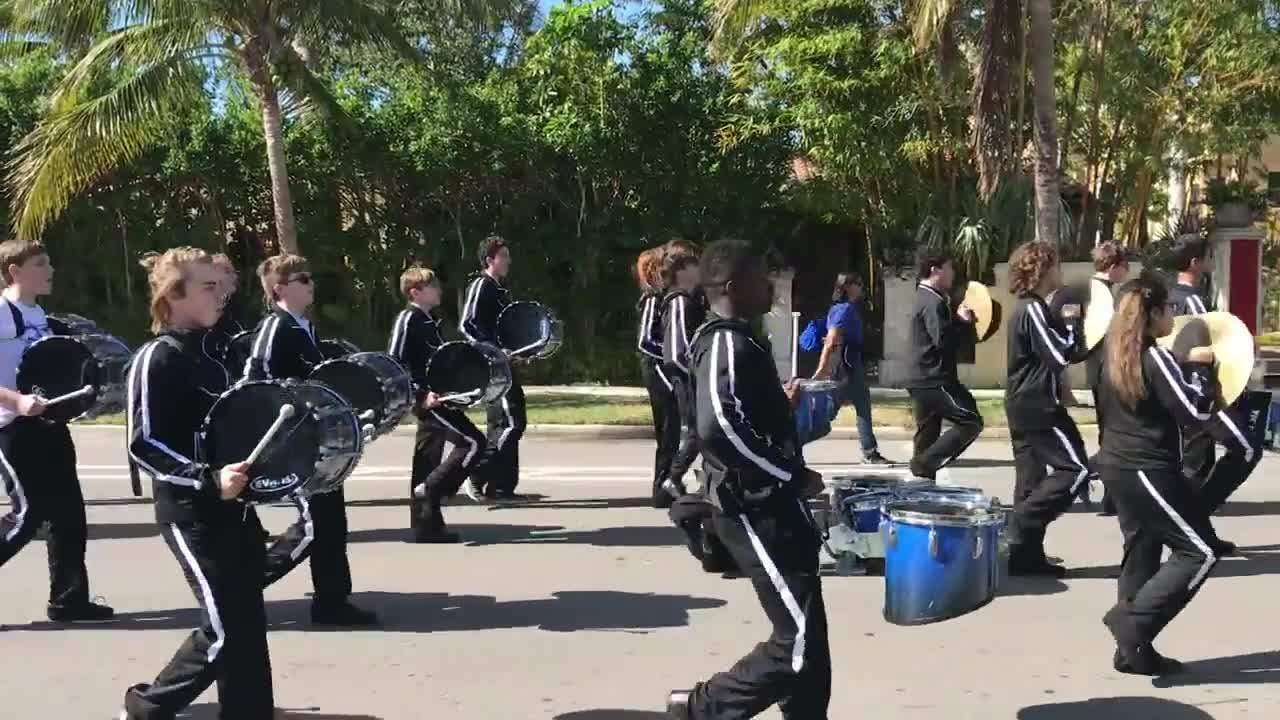 The Barron Collier band performs in the Martin Luther King Jr. parade Monday, Jan. 15, 2018, in downtown Naples.