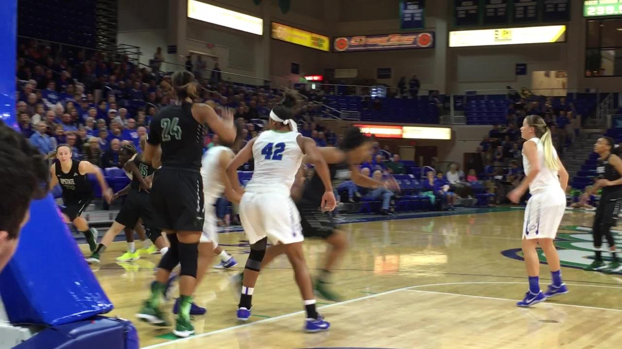 NJIT shot 50 percent from the field during FGCU's win on Saturday. The Eagkes turned it up a notch at home against USC Upstate on Monday night. (Video by Dana Caldwell/Naples Daily News)