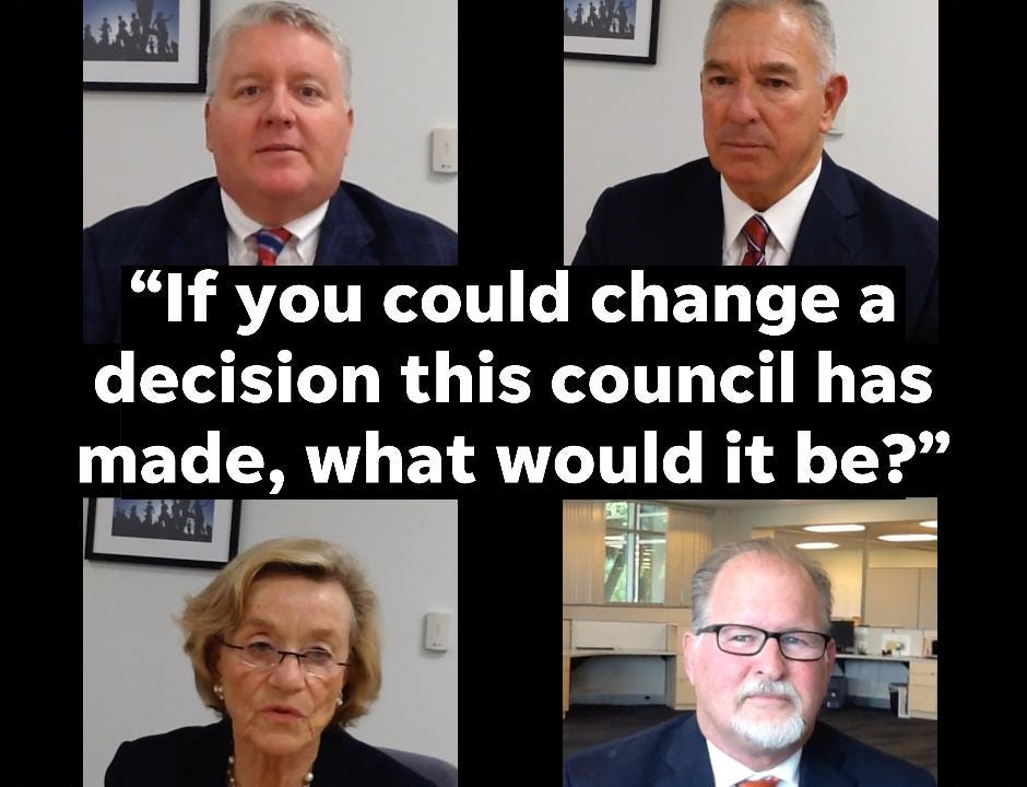 """The Naples Daily News Editorial Board sat down with the four candidates running for three open seats in the Naples City Council race. They each answered the question, """"If you could change a decision this council has made, what would that be?"""""""