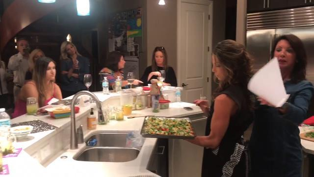 Laura Dalsanto leads her cooking class Diva-Licious in her Naples home on Friday, Jan. 26, 2018.