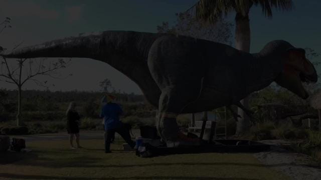 """Ten life-sized, animatronic dinosaurs are part of the exhibit, """"Dinosaurs: Back with a Roar!"""", at the Naples Botanical Garden until June 3."""